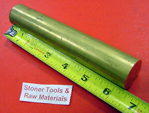 1 1 8 360 Brass Solid Round Rod 6 3 8 Long New Lathe Bar Stock H02 1 125