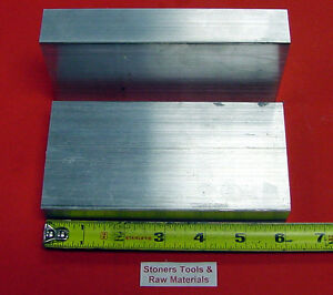 2 Pieces 1 X 3 Aluminum 6061 T6511 Solid Flat Bar 6 Long 1 000 Mill Stock