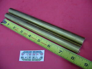 2 Pieces 5 8 C360 Brass Solid Round Rod 8 Long H02 Lathe Bar Stock 1 2 Hard