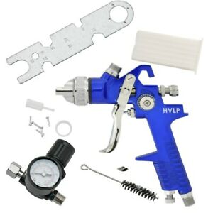 Pro Grade 1 7mm Hvlp Air Spray Gun Tool W Gauge Automotive Shop Painting Tools