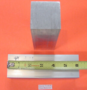 2 Pieces 2 X 2 Aluminum Square 6061 T6511 Flat Bar 6 Long Solid Mill Stock