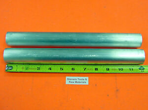 2 Pieces 1 3 8 Aluminum Round Rod 12 Long 6061 T6511 1 375 Solid Bar Stock