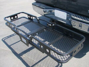 Folding Cargo Carrier Luggage Basket 2 Receiver Hitch Truck Suv Pick Up 60 x20