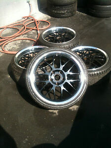 Champion Motorsports Rg5 Monolite Rims With Like New Tires