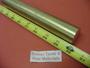 1 1 4 1 250 Brass C360 Round Bar Rod 36 Length H02 Solid New Lathe Bar Stock