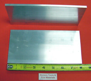2 Pieces 1 4 X 4 Aluminum 6061 Flat Bar 8 Long 250 Plate New Mill Stock