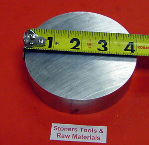 4 Aluminum Round Rod 2 Long 6061 T6511 Solid New Extruded Lathe Bar Stock