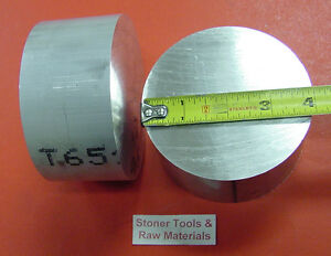 2 Pieces 4 Aluminum 6061 Round Bar Rod 2 Long Solid Extruded Lathe Bar Stock