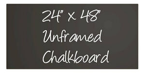 Large Black Menu Chalkboard Sign Chalk Board Unframed 24 X 48 Neoplex