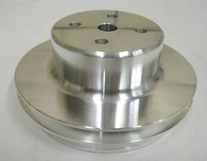 Big Block Chevy Lwp Aluminum 2 Double Groove Upper Water Pump Pulley Bbc 396 454
