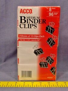 96 Acco 72052 Medium Binder Clips