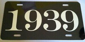 1939 Year License Plate Fits Chevy Ford Chrysler Buick Mercury Dodge Pontiac
