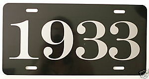 1933 Year License Plate Fits Chevy Ford Chrysler Buick Plymouth Oldsmobile Dodge