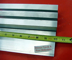 4 Pieces 3 4 x 3 Aluminum Flat Bar 10 Long 6061 T6511 Solid Plate Mill Stock
