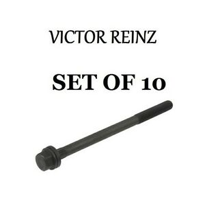 Mini Cooper R50 R53 Set Of 10 Cylinder Head Bolts Victor Reinz New 07131487226