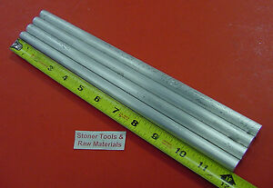 4 Pieces 1 2 Aluminum 6061 Round Rod 12 Long Solid T6511 Lathe Bar Stock
