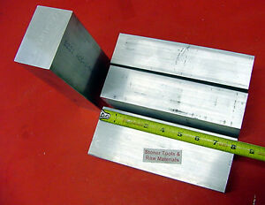 4 Pieces 2 X 3 Aluminum 6061 Flat Bar 8 Long Solid 2 00 Plate Mill Stock