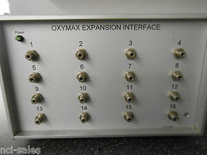 Columbus Instruments Oxymax Expansion Interface Model Dryer Switcher 16