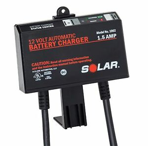 Solar 1002 1 5 Amp 12 volt Automatic Underhood Battery Charger