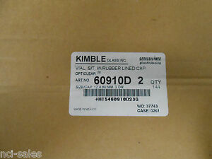 Lot Of 112 Kimble Glass Vials 60910d 2 W rubber Lined Caps