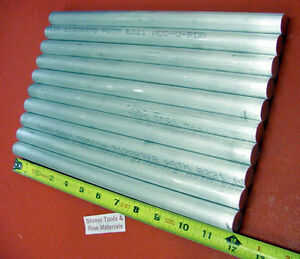 10 Pieces 5 8 Aluminum 6061 Round Rod 12 Long T6511 Solid Lathe Bar Stock