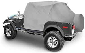 1976 1986 Jeep Cj7 Insulated Trail Cover With Door Flap Covers In Gray