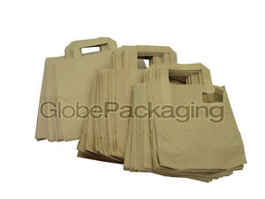25 Small Brown Kraft Paper Sos Carrier Bags 7 X 3 5 X 8 5