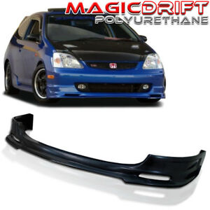 For 02 03 04 05 Honda Civic Si 3dr Hb Ep3 Urethane Front Bumper Lip Spoiler Kit