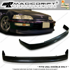 88 89 90 91 Honda Civic Ef 5dr 5d Wagon Cs Front Bumper Pu Lip Urethane Body Kit