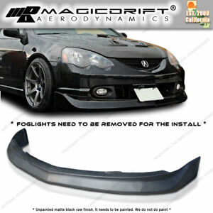 For 02 03 04 Acura Rsx Dc5 Jdm Mugen Style Front Bumper Lip Urethane Black Pu