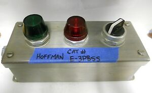 Hoffman Stainless Steel 3 Hole Push Button Enclosure W buttons E 3pbss Mm 817