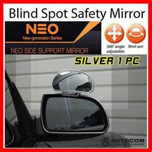 Neo Side Wide Blind Spot Rear Side Angle View Mirror For Car Truck Silver 2 Pcs