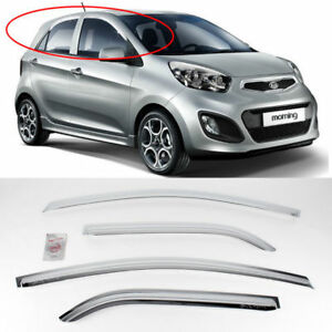 2011 2012 Picanto morning Chrome Sun Shade Rain Guard Door Visor K 723