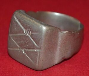 Medium Antique Tuareg Ethnic Coin Silver Ring From Niger Africa Ring Size 7 1 2