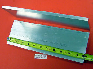 2 Pieces 3 4 X 4 Aluminum 6061 Flat Bar 12 Long 75 Solid Plate Mill Stock