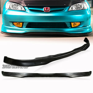 Type R Style Polyurethane Front Lower Bumper Lip For 2001 2003 Honda Civic 2 4dr