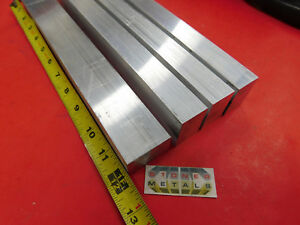 4 Pieces 1 X 1 1 2 Aluminum 6061 Flat Bar 12 Long T6511 Solid Mill Stock