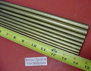 1 4 To 1 2 C360 Brass Round 8 Pc Assortment Solid Rod 14 Long Bar Stock 3 72