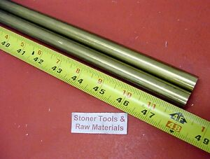 2 Pieces 5 8 C360 Brass Solid Round Rod 48 Long New Lathe Bar Stock H02 625