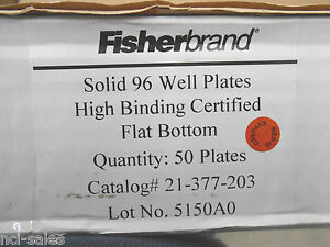 40 Fisherbrand Solid 96 Well Flat Bottom Microplates 21377203 par