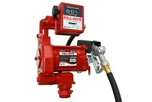 Fill rite 115v Ac 20gpm Fuel Transfer Pump With Mechanical Meter Manual Nozzle