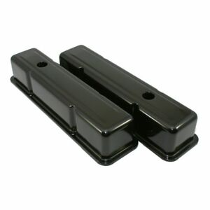 Steel Black Valve Covers Chevy Sbc 283 305 350 400 Small Block Tall