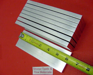 8 Pieces 3 8 x 2 Aluminum 6061 Flat Bar 6 Long T6511 Solid Extruded Mill Stock