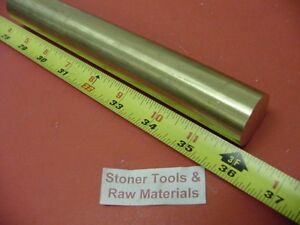 1 3 8 Brass C360 Solid Round Rod 36 Long New Lathe Bar Stock 1 375 Od H02