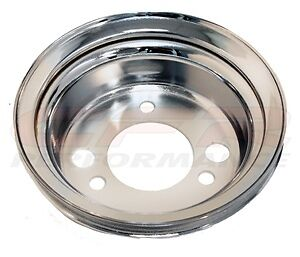 Chrome Steel Add On Crank Pulley Chevy Short One Groove 1 327 350 400 396 454