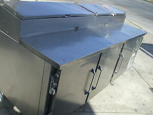 Pizza Prep Table Victory Model Vpt Shelves Casters Pans 900 Items On E Bay
