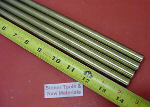 4 Pieces 9 16 C360 Brass Solid Round Rod 14 Long New Lathe Bar Stock 562
