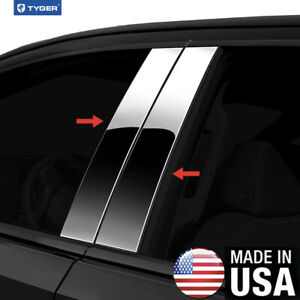 Tyger For 2011 2015 Volkswagen Touareg 4pc Stainless Steel Pillar Post Trim