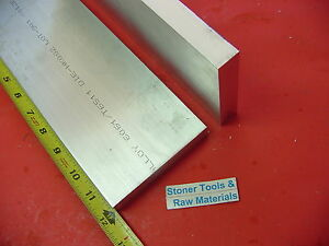 2 Pieces 1 X 4 Aluminum 6061 Flat Bar 12 Long Solid Plate Mill Stock 1 00