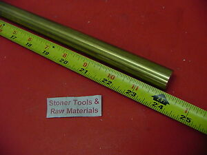 1 C360 Brass Solid Round Rod 24 Long New Lathe Bar Stock 1 00 Od 1 2 Hard